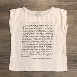 graphic tee, no sleeve, straight, boxy, from Paris
